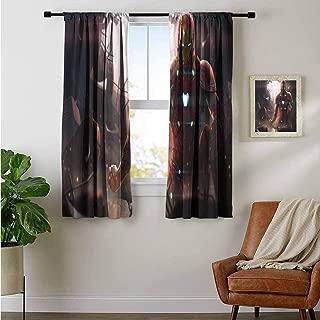 ZhiHdecor Customized Curtains Iron Man Avengers Infinity war Digital Art fc Nursery and Kids Bedroom Curtain
