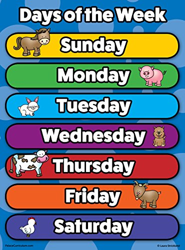 days of the week chart for kids - 9