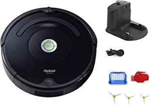 iRobot Roomba 614 Robot Vacuum Bundle - Wi-Fi Connected, Ideal for Pet Hair (+3 Extra Edge-Sweeping Brushes) (8 Items)