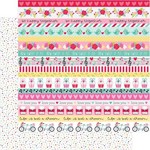 DOODLEBUG DESIGN INC. 6590 LOVE NOTES Papier SWT SPRNKL 30,5 cm, Sweet Sprinkles, Einheitsgröße