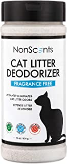 NonScents Cat Litter Deodorizer – Litter Box Odor Eliminator – Fragrance Free – Longer Kitty Litter Life