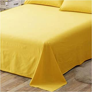New Persian Yellow Flat Sheet 1800 Collection Wrinkle Free Soft Solid Top Sheet