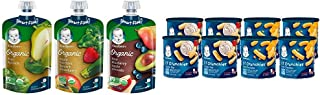 Sponsored Ad - Gerber Purees Organic 2nd Foods Baby Food Fruit & Veggie Variety Pack, 3.5 Ounces Each, 18 Count & Lil Crun...