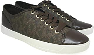 New MK Logo City Sneakers Tennis Shoes Brown Size 8.5 Lace Up