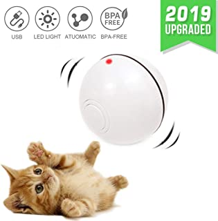 CHOKMAX Cat Toys Interactive Automatic Rolling Ball USB Rechargeable LED Light Entertainment Pet Exercise Chaser Toy for Cats and Dogs