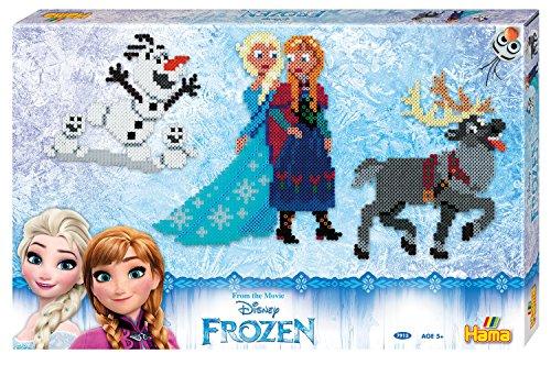 Hama 7913 Frozen, geschenkverpakking, circa 6000 strijkkralen en 3 pennenplaten.