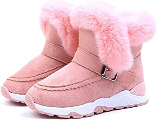 XuBa Warm Non Slip Baby Boots Plush Boots Low Tube Boots Kids Shoes Snow Boots for Boys Girls