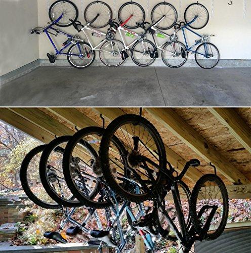 Luxebell 8 Stücke Fahrradhaken, Fahrradhalter geeignet vielseitig einsetzbar zum Aufhängen verschiedener Werkzeuge und Geräte, Belastbarkeit 60 lbs / 25 kg - 6