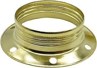 3 anillos roscados E27 de metal, color latón, para portalámparas, anillo de diámetro 60 mm, altura 17,6 mm, para lámpara o elementos de cristal