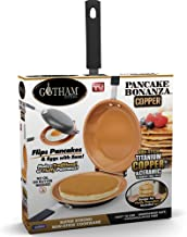 Gotham Steel Bonanza Nonstick Copper Double Pan – Easy Delicious Perfect Fluffy Pancakes Every Time with Absolutely No Clean Up, As Seen on TV, Large,