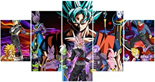 Jackethings Dragon Ball Z and Super Poster Unframed Goku Anime Chracters Canvas Prints Wall Art Pictures Bedroom Decoration