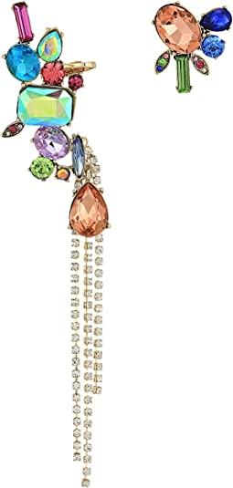 Betsey Johnson - Bright Color Stone Non-Matching Earrings