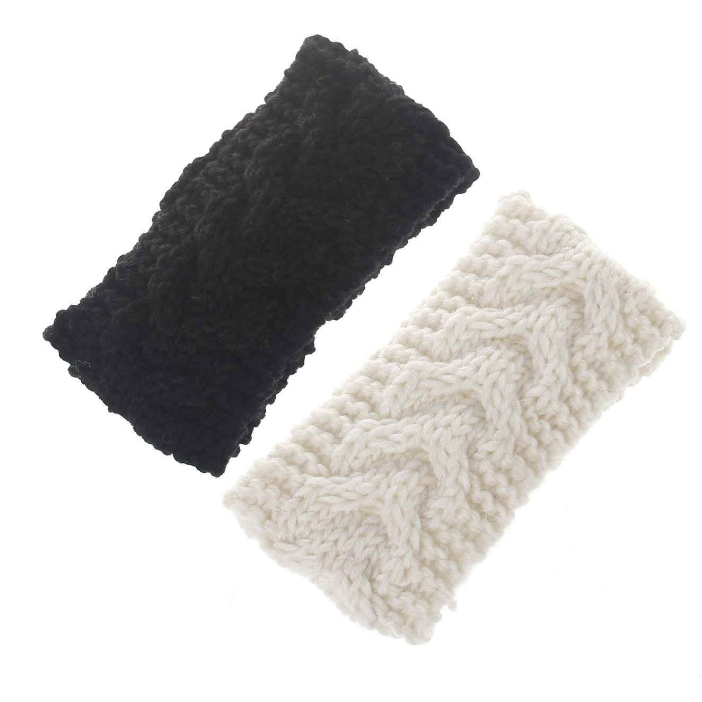 Baby Knitted Headbands Turban Crochet Infant Toddler Hairbands Headwrap JB70 (9-Set White Black)