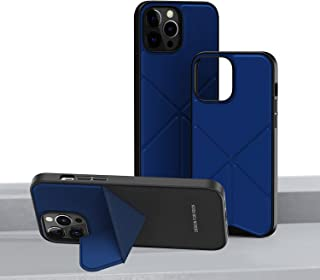 ROCK Compatible with iPhone 13 Pro Max Case with Stand Slim Leather Shockproof Cover with Adjustable Kickstand, for iPhone...
