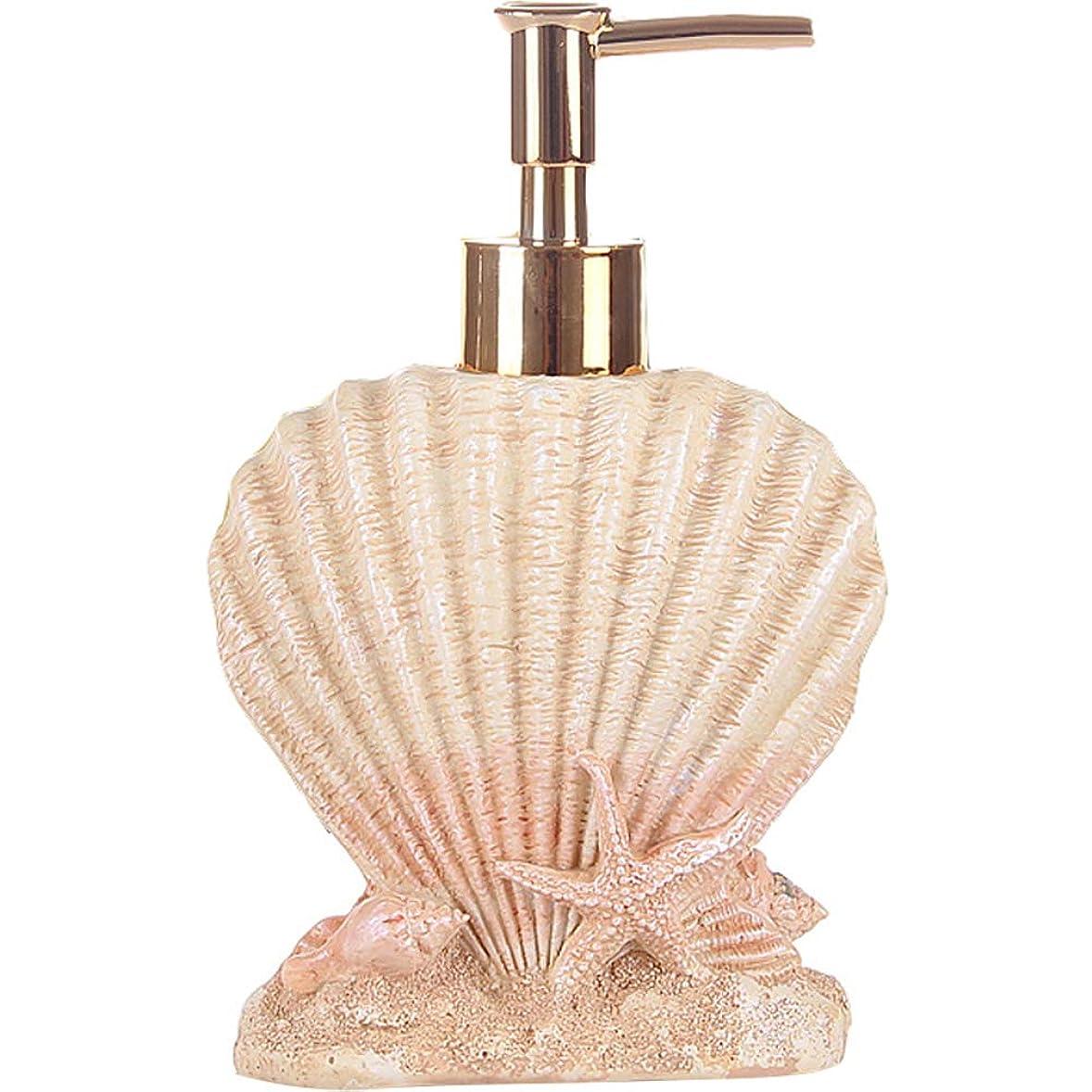 エスカレート任命協力する(Shell) - Creative Beach Shells European Style Hand Soap Liquid Bottles Resin Shampoo Dispenser (shell)