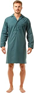 Haigman Mens Gents Nightwear 7290 Easy Care Poly Cotton Long Sleeve Nightshirt