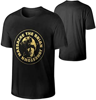 WustegHoodie Men The Brian Jonestown Massacre Logo Music Band Round Neck Cotton T Shirts Gift