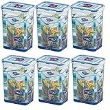 wns-emg-world Set Frischhaltedosen HPL 809 je 1,3 Liter, 6 Stück