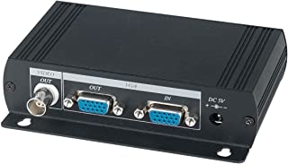 VGA to Composite Video BNC Converter, Dual Output to BNC and VGA, Output PC DVR on LCD TV