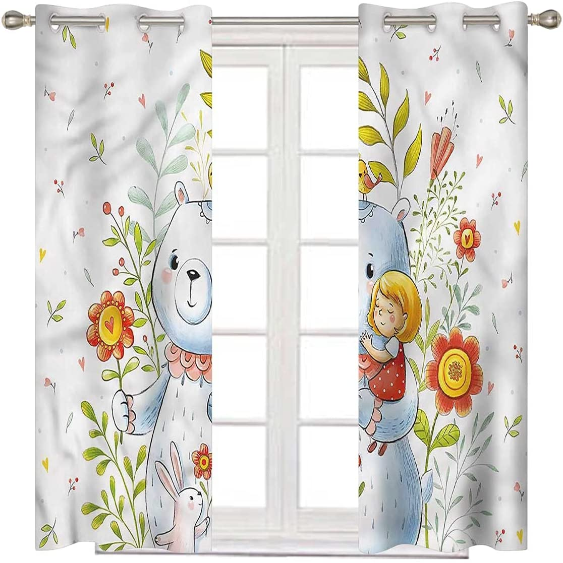 Super-cheap Cartoon Kids Blackout Curtains 108 Inventory cleanup selling sale Inch in Bear Teddy Long G Toy