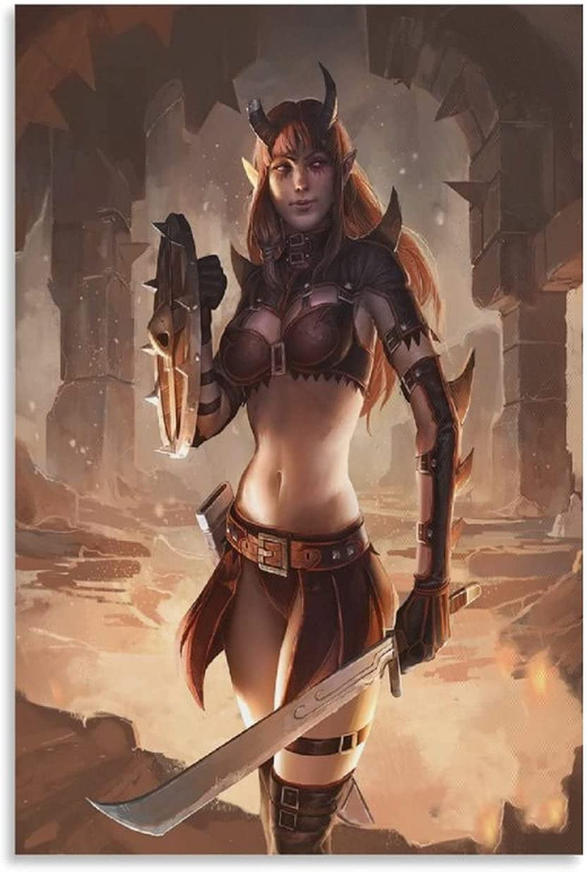 zhimeng Girl Gladiator in Demon Costume Poster Max 76% OFF Decorative Painti 2021