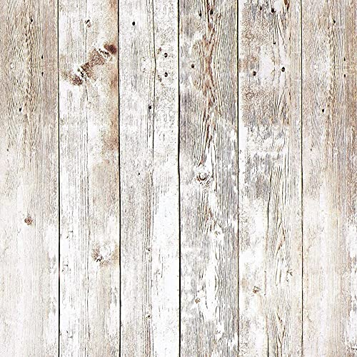 BINGHC Papel Tapiz, Auto Adhesivo Papel Pintado de Grano de Madera Viejo 45 * 200 cm Sala de PVC Pegatina Papeles Impermeable Vintage para la Pared de la Pared de la Pared