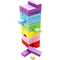 48 Piece Lewo Wooden Stacking Board Games Building Blocks for Kids