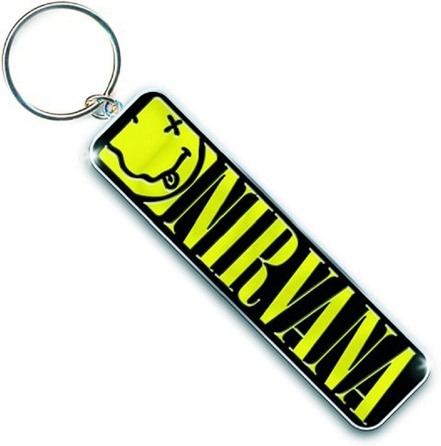 Nirvana Keyring Keychain Smiley Face Band Logo Official Metal Size One Size