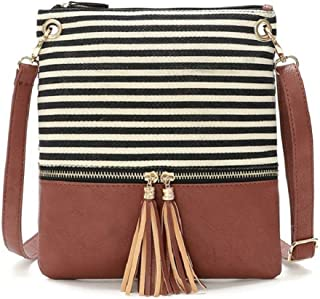 DukeTea Small Circular Crossbody Purse for Teen Girls, Mini Crossover Phone Shoulder Bag for Women
