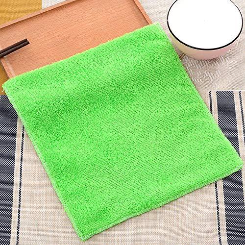 Toalla de limpieza de fibra de bambú del día de la madre paño de limpieza de la cocina antiadherente aceite lavavajillas toalla