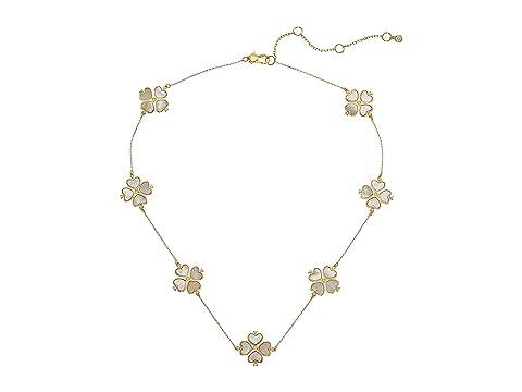 Kate Spade New York Legacy Logo Spade Flower Necklace