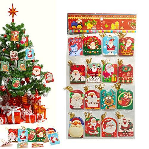 128 Sheets Mini Weihnachtskarten,Weihnachtspostkarte,Kleine Weihnachten Karten,Frohe Weihnachten Grußkarten Blanko für Weihnachtsgrüße in 16 Weihnachten Motiv,Kinder Geschenk,Weihnachtskarten Kinder