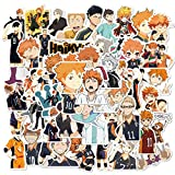 Haikyuu Cartoon Japanese Anime Stickers Lovely Boy and Girl Sticker Laptop Computer Bedroom Wardrobe Car Skateboard Motorcycle Bicycle Mobile Phone Luggage Guitar DIY Decal