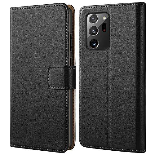 HOOMIL Handyhülle für Samsung Galaxy Note 20 Ultra Hülle, Premium PU Leder Flip Case Schutzhülle für Samsung Galaxy Note 20 Ultra 5G Tasche, Schwarz