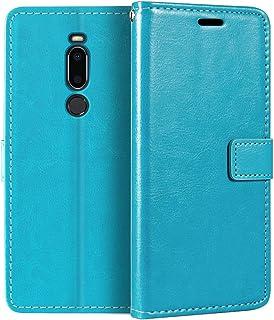 Meizu X8 plånboksfodral, premium PU-läder magnetiskt flippfodral med korthållare och ställ för Meizu X8