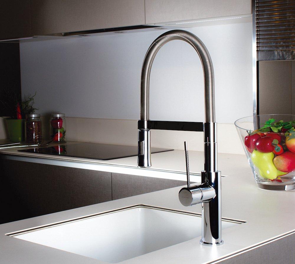 Clever - Flexible Küchenarmatur, silber