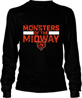Chicago Bears NFC North T Shirt, Monsters of The Midway T Shirt - Long Sleeve Tees
