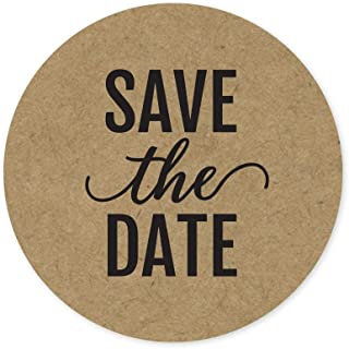 Save The Date Stickers / 250 Labels Per Roll / 1.5 inch Save The Date Wedding Seals