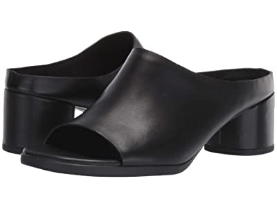 ECCO Shape 45 Block Slide (Black Calf Leather) Women