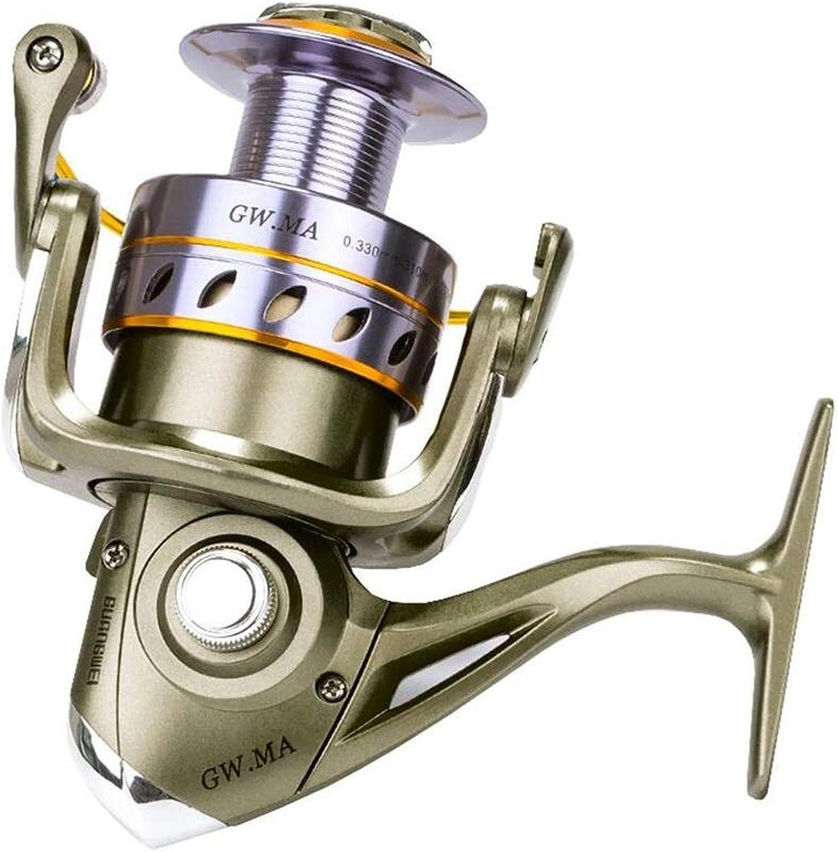 YRODYU Spinning Reel, Front Drag Metal Wire Cup Bearing Ergonomics Fishing Reel for Boat Fishing, Ice Fishing