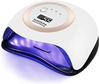 AYITOO 168 W nageldroger, uv-lamp, goudkleurig, led-uv-lamp voor gelnagels, professionele nagellak, nagellamp met 4 timer...