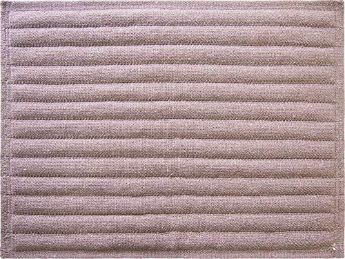 オカトー(Okato) 浴室足ふきマット 抗菌 防臭 吸水 バスマット ブラウン PUWRAP 45×60cm