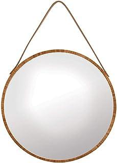 40x40cm camera da letto diametro 40 cm con cornice in metallo HD colore: Nero Nero per bagno Muzilife Specchio rotondo in vetro