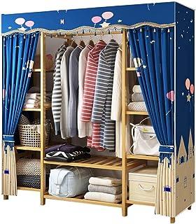 Penderies Armoire Toile vêtements Rail de Rangement Pliant étagères d'installation Facile Liuyu. (Size : 120x41x165cm)