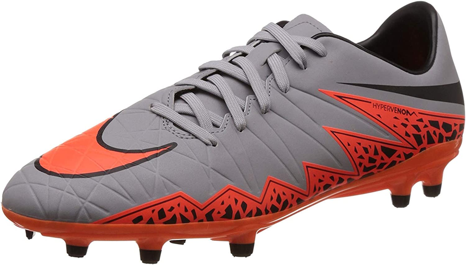 Nike Men's Hypervenom Phelon II FG Soccer Cleat Grey
