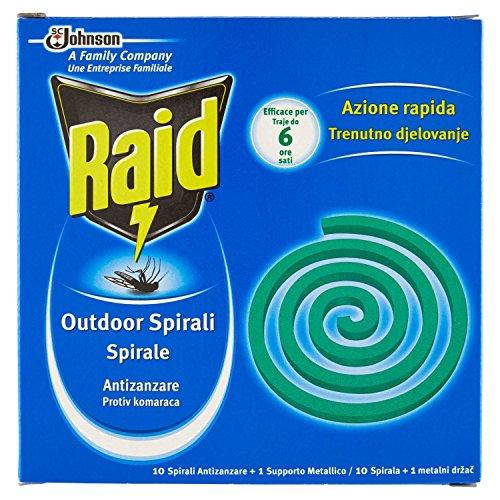 Raid espirales antimosquitos–10Unidades, 1soporte metálico