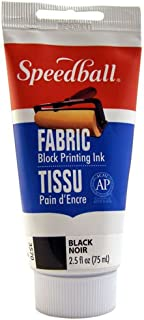Speedball 003570 Fabric Block Printing Ink – Premium Fabric Block Printing Ink 2.5 FL OZ (75CC), Black