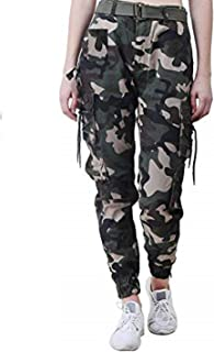79716866943eec Meoby Women's Dori Style Army Print Cotton Green Multicolor Relaxed Fit Cargo  Pants