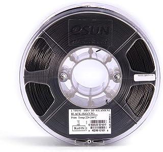 eSUN ABS+ 1.75mm ABS 3D Printer Filament 1kg Spool (2.2lbs) Consumables Material Refills Black