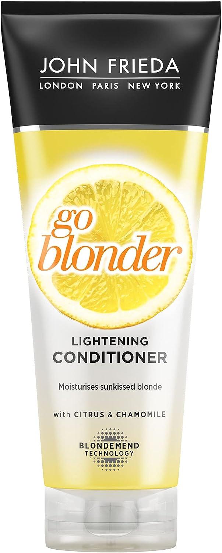 John Frieda Acondicionador Aclarante Pelo Rubio, 250 ml | Aclarador Cabello Rubio | Sheer Blonde Go Blonder